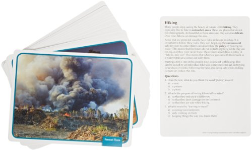 Edupress 32 Piece Reading Comprehension Science Cards Set with Ecology Theme