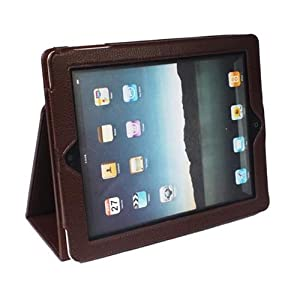 iPad 2 Classic Magnet Closure Book Style Reversal Folding Stand Folio Case Brown