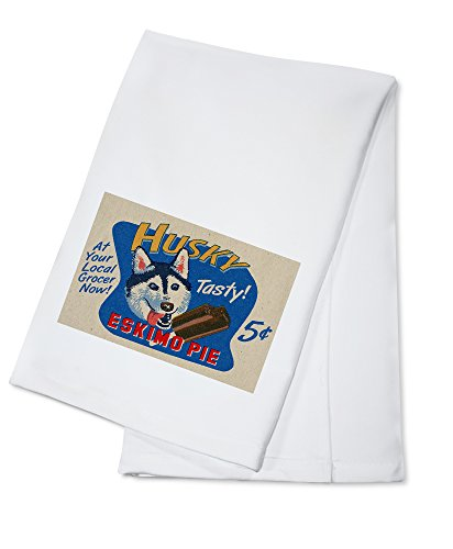 husky-eskimo-pie-retro-ad-100-cotton-absorbent-kitchen-towel