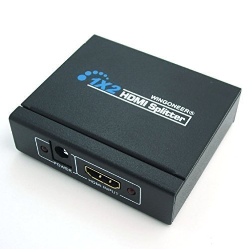 WINPOON 3D HDMI 1x2 splitter amplificatore 1 in 2 out full HD1080p ver 1.3 dobby dts audio per HDTV STB PS3 DVD multmedia PC