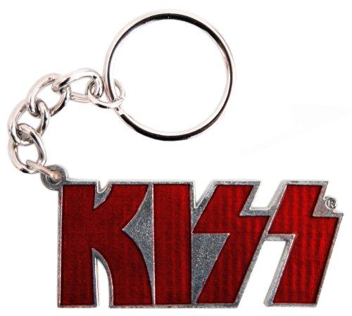 Kiss Portachiavi, con logo, colore: rosso