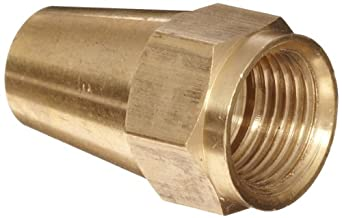 Anderson Metals Brass Compression Tube Fitting, Long Flare Nut, Tube OD