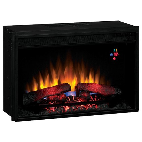 "Classic Flame 26Ef023Gra Insert Only. Fixed Front 26"" Insert With Backlit Display With Remote"