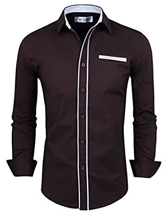 Image unavailable image not available for color sorry this for Tom s ware mens premium casual inner contrast dress shirt