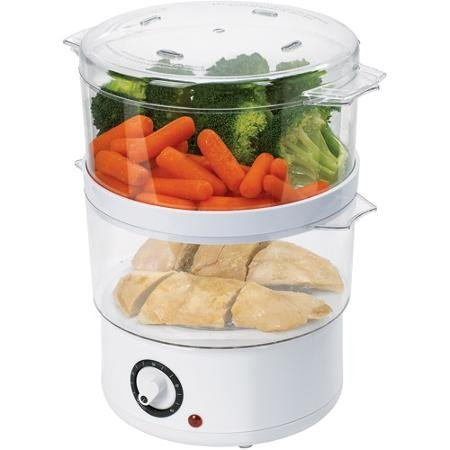 Oster White Food Steamer (Oster Double Tiered Food Steamer compare prices)