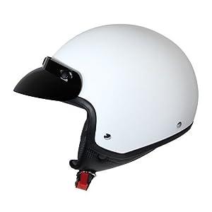 demi-jet helmet hiro white matt l