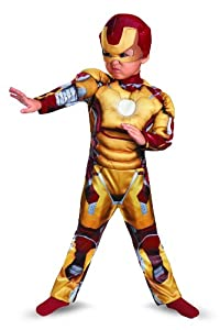 Disguise Marvel Iron Man Movie 3: Iron Man Mark 42 Muscle Costume, 3T-4T