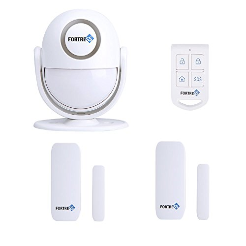 Fortress Security Guardian: All-In-One Motion Activated Alarm Host- DIY Security Alarm or Doorbell with 2 Door & Window Contacts- Ideal for Businesses and Homes (Fortress Security Window Sensors compare prices)