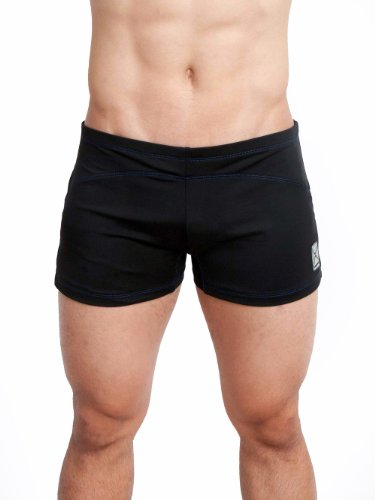 Eros Sport Core Vibe, Yoga Cross Training Short, Black w/Blue Stitching