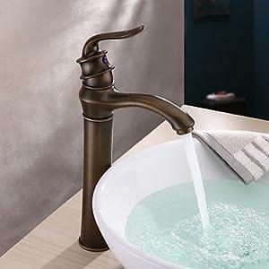 Centerset Antique Copper Finish Bathroom Sink Faucets