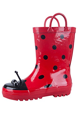 Mountain Warehouse Stivali di gomma Ladybird Junior Rosso 28