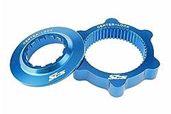 SCS Montage Centerlock Bike Disk Brake Rotor Adapter for Shimano/1pair/46g/Blue