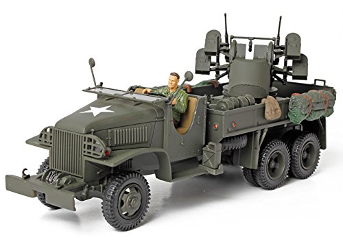 Forces of Valor U.S. 2 1/2 Ton Truck - Deuce and a Half with 4 x 0.5 AA Machine Gun, Scale 1:32 (All New) (Deuce Deuce Gun compare prices)
