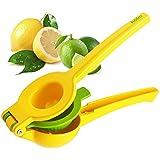 Hölm Limes and Lemon Squeezer - Manual Hand Held Orange Lime and Lemons Citrus Juicer - Lemon Water Maker - Fruit Wedge and Salad Dressing Tool - Orange Slice Presser - Iced Tea Lemonade Press
