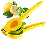 Hölm Limes and Lemon Squeezer - Manual Hand Held Orange Lime and Lemons Citrus Juicer - Lemon Water Maker - Fruit Wedge and Salad Dressing Tool - Orange Slice Presser - Iced Tea Lemonade Press
