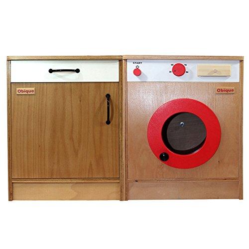 Obique giocattoli in legno per bambini set 2 unità da cucina ...