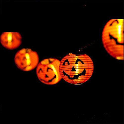 [DIY Scary Halloween LED Paper Hanging Pumpkin Lantern - Festival Party Decor] (Alice In Wonderland Costume Ideas Diy)