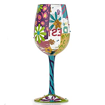 You're the Best Painted Artisan Wine Glass