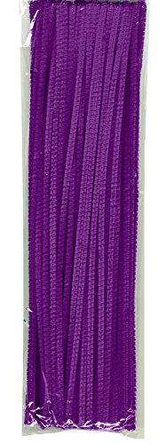 "Creativity Street Chenille Stetems/Pipe Cleaners 12"" x 6mm 100-Piece Purple"