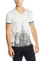 American People Camiseta Manga Corta Tabarek (Blanco / Negro)