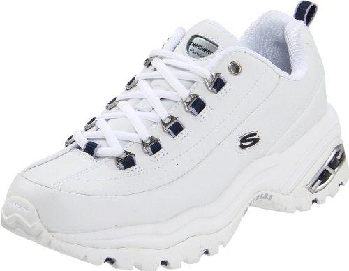 Skechers Women'S Premium Sneaker,White/Navy,7.5 M front-1015525