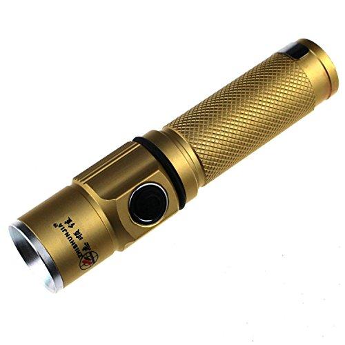 Zhishunjia Mini Cree Xp-E R2 6500K 200Lm 3-Mode White Light Flashlight - Golden (1 X 14500)