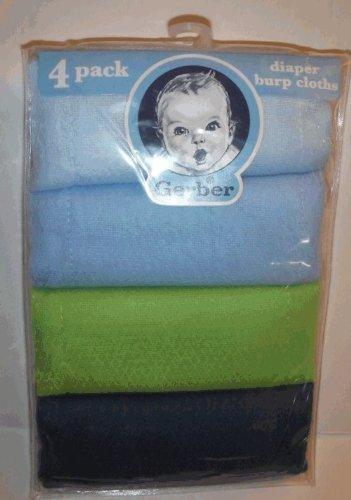 Gerber 4 Pack Prefold Birdseye Solid Diaper