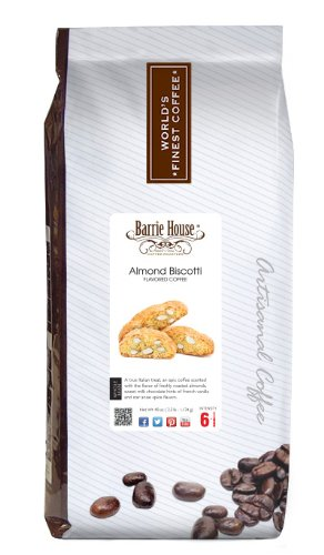 Barrie House Almond Biscotti Coffee, Whole Bean 2.5 lb. (40 oz.) Bag