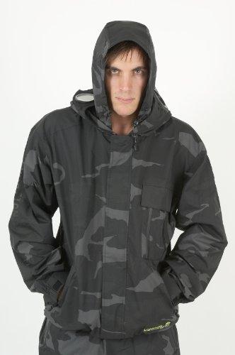 Mens New Location Camo Waterproof Goggle Recco Rain Hooded Jacket Coat Size XL
