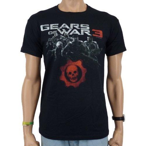 Gears Of War 3 - Delta Squad effetto T-Shirt, colore nero