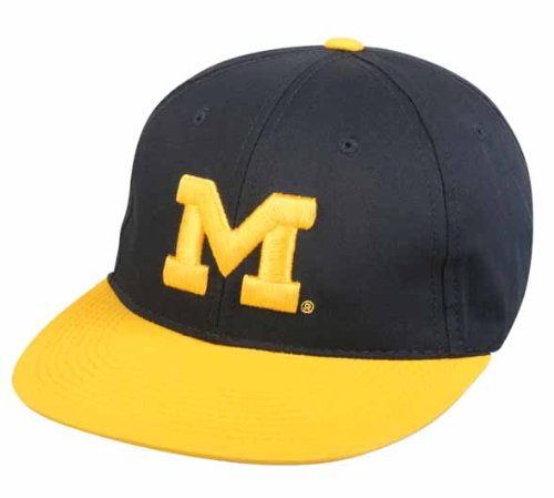 Michigan Wolverines YOUTH Cap Officially Licensed NCAA Authentic Replica Baseball/Football Hat (Wolverine Mascot)