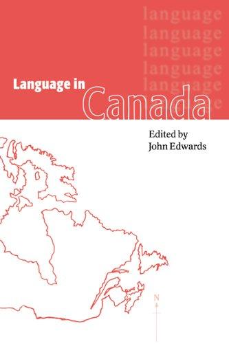 Language in Canada Hardback