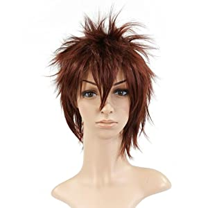 Almond Brown Spike Styled Short Length Anime Cosplay Costume Wig