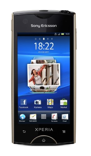 Sony Ericsson Xperia ray Smartphone (8,4 cm (3,3 Zoll) Display, Touchscreen, 8 megapixel Kamera, Android 2.3 OS) gold