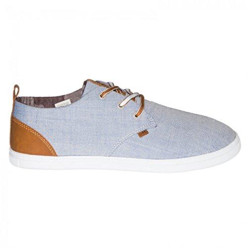 Djinns Herren Sneaker Summer Canvas Low Lau blau blau 46