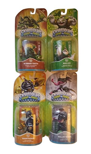 Set of 4 Skylanders SWAP Force Slobber Tooth Roller Brawl Zoo Lou Countdown (Skylander Light Expansion Pack compare prices)