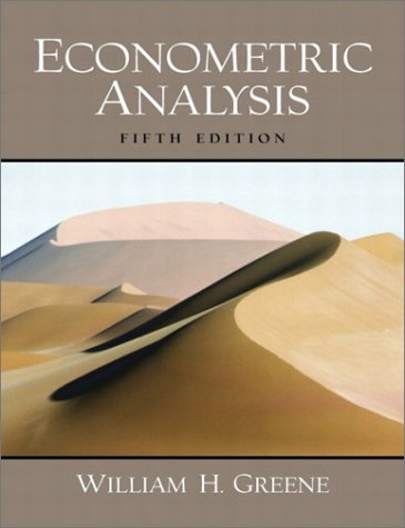 Econometric Analysis (5th Edition)
