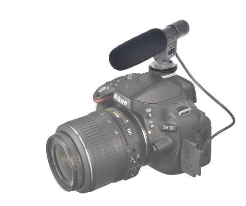 Jjc Electret Condenser Stereo Microphone For Nikon Slr D300S D800 D7000 D5100 D3S D4 D3200 D600 Nikon Coolpix P7000 P7100 P7700 And Nikon 1 V1