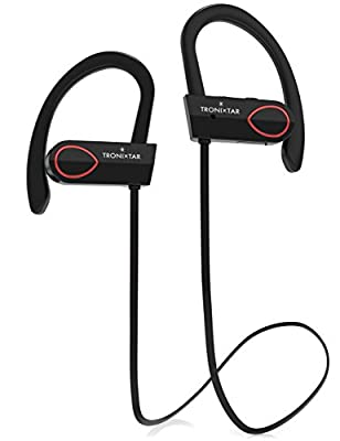 Tronixtar Wireless Bluetooth Headphones | Premium Noise Cancelling Earbuds With Microphone| Sweatproof Earphones For Running, Biking, Sports & Gym |Ergonomic Over The Ear Headset | Bonus Carrying Case