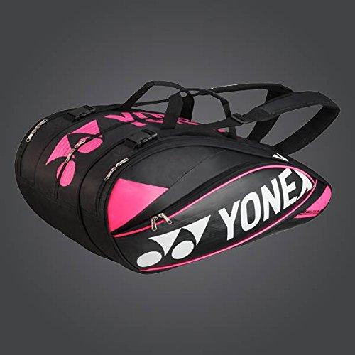Yonex, Borsa per racchette, capienza: 9 racchette Pro Racket Thermobag, Nero (Schwarz), 80 x 40 x 40 cm, 1,0 l