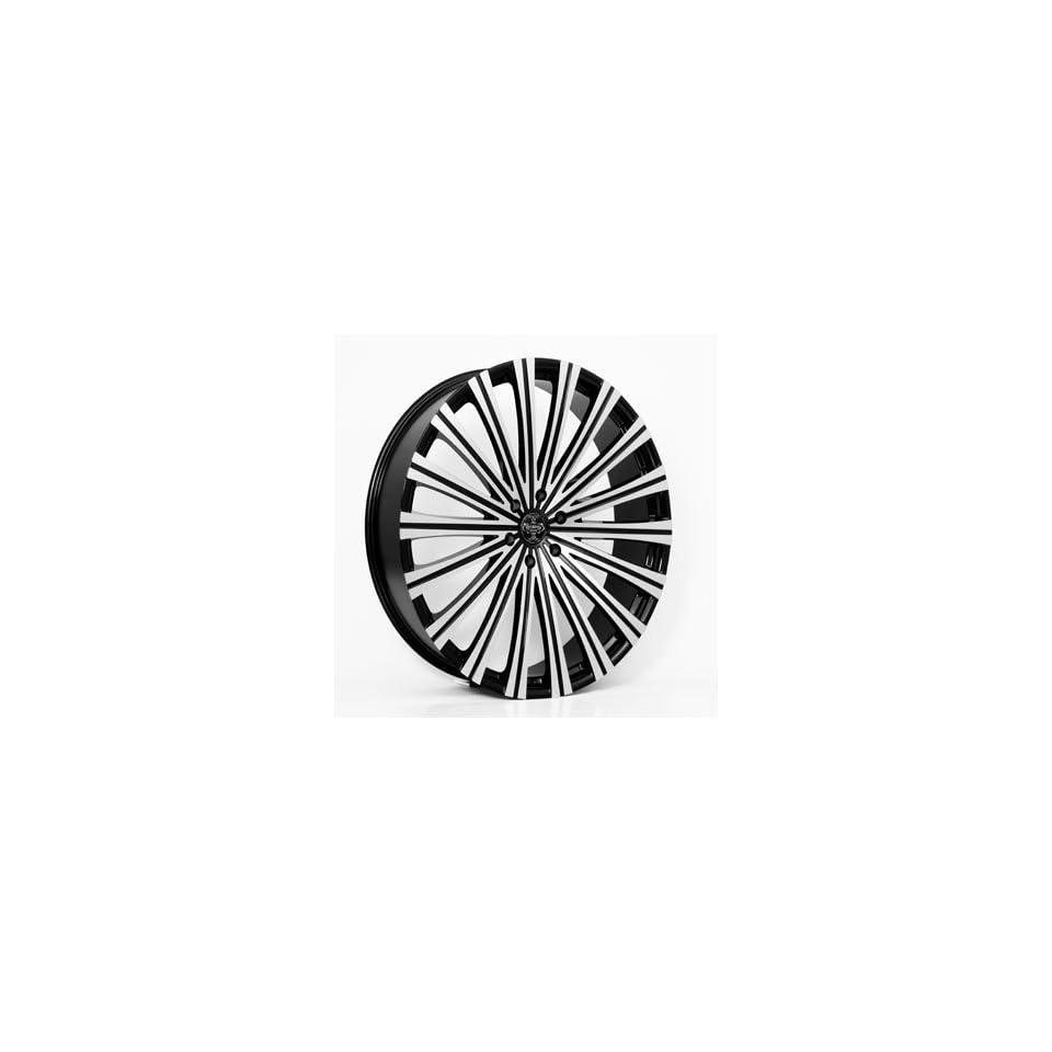20 Wheels Rims Versante Ve230 Black Machined Face 6x135 6x139.7
