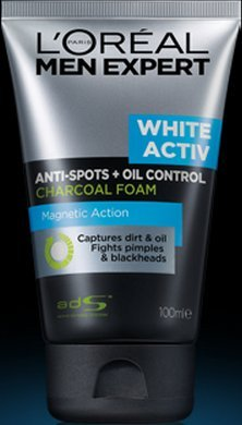 L'Oreal White Activ Oil Control Charcoal Foam 100 Ml.