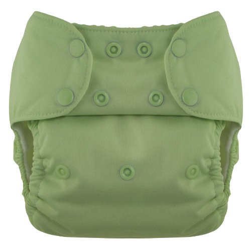 Blueberry Deluxe Diaper Snaps, Meadow Green - 1