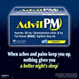 Advil PM - 180 Coated Caplets (Ibuprofen, 200mg / Diphenhydramine citrate, 38mg)