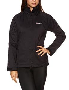 Berghaus Women's Calisto Insulated Shell Waterproof Jacket - Black/Black, Size 10