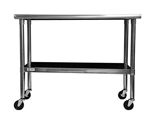 TRINITY EcoStorage NSF Stainless Steel Table with Wheels, 48-Inch (Table Wheels compare prices)