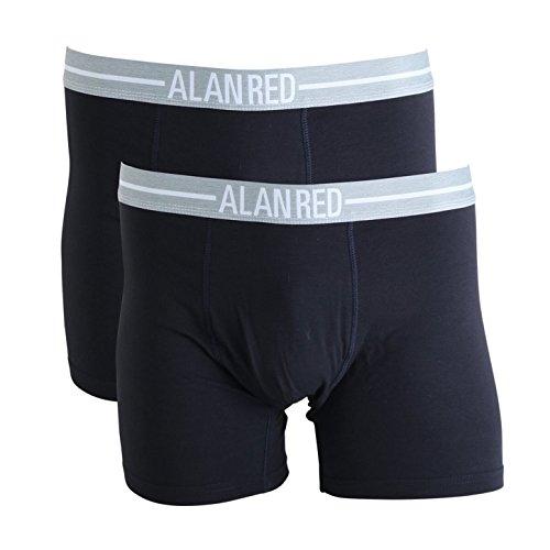 Alan Red - lunga uomo Boxer/Retros #7001 - 2 pezzi - con Silver Ion tecnologia Navy / Blau L