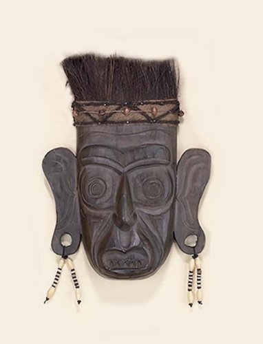 "Wood Indian Tribal Mask 15""H"