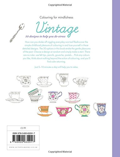 Vintage: 50 designs to help you de-stress (Colouring for Mindfulness)