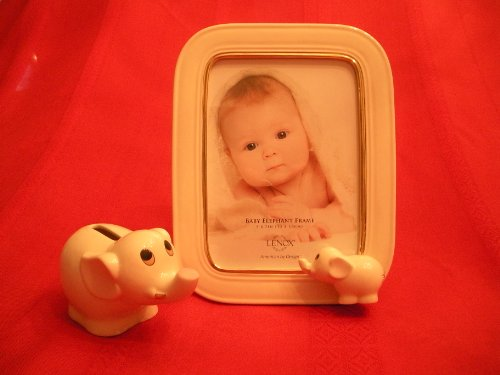 Lenox Baby Elephant 5x7 Frame and Bank Set
